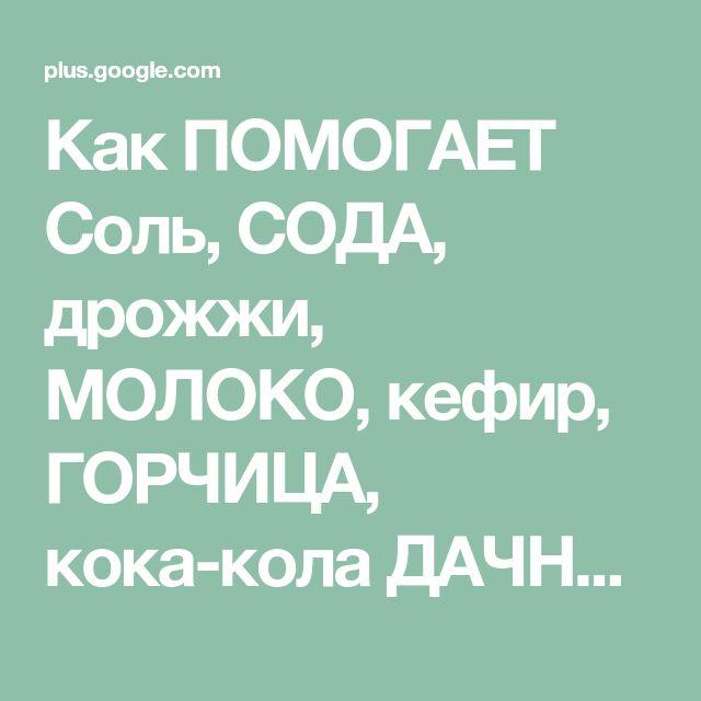 Как ПОМОГАЕТ Соль, СОДА, дрожжи, МОЛОКО, кефир, ГОРЧИЦА, кока-кола ДАЧНИКАМ в...