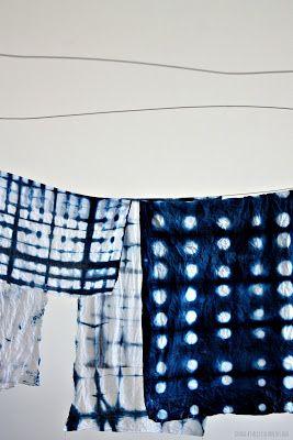Shibori Class by Joanna Fowles at Megan Mortons The School  Image by Alex Fulton Design