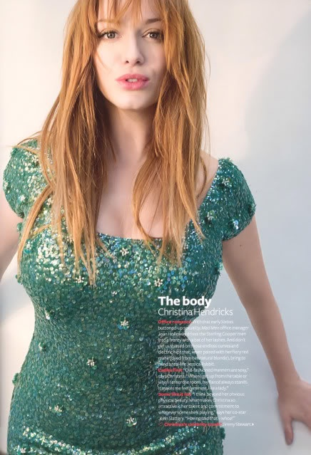 I am 1-2 sizes and about 4-6 inches away from having the same measurements as Christina Hendricks. Not too shabby! Go me!
