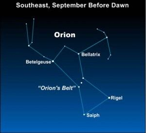Orion the Hunter well up before dawn in September | EarthSky.org