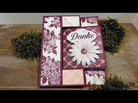 Anleitung: Faltkarte mit Drehteil mit Stampin'Up! Produkten - YouTube