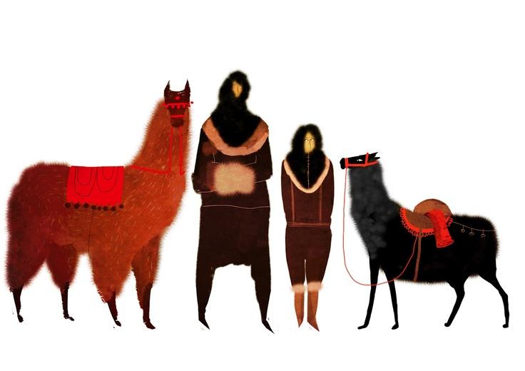 Juliette Oberndorfer: Illustrations Character, Animal Character, Alpacas, Character Design, Charactor Design