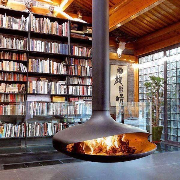 ob modern oder klassich das wohnzimmer mit kamin kreiert eine geheimnisvolle charmente atmosphre die die sinnen entspannt der kamin wird in - Bcherregal Ideen Neben Kamin