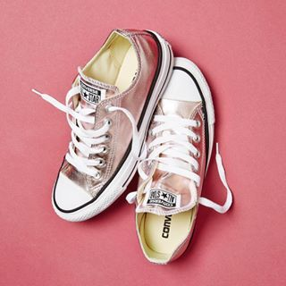 Your new @converse  #Shop the All Star Low in rose metallic straight from our bio #ownit2017 #converse
