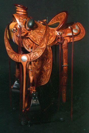 tooled saddle