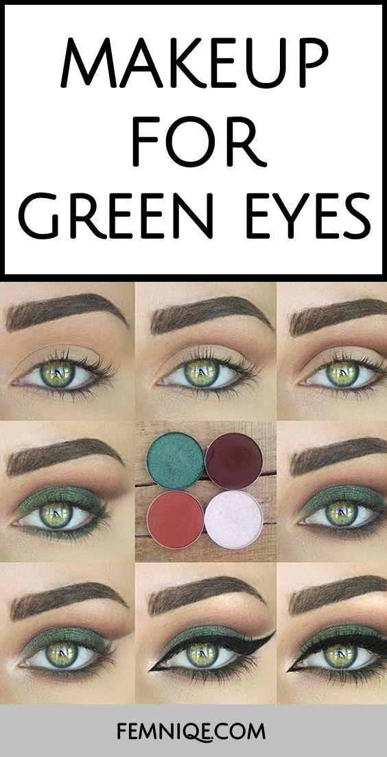 10 Beautiful Makeup Looks For Green Eyes – Lillian Goobie