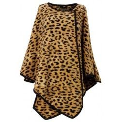 Dames poncho in panter design