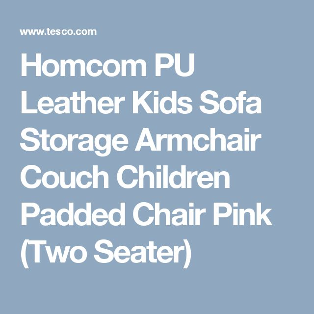 Homcom PU Leather Kids Sofa Storage Armchair Couch Children Padded Chair Pink (Two Seater)