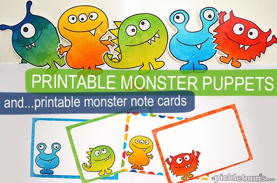 Free Monster Printables for my Scaredy Boy from Picklebums http://picklebums.com/2012/10/18/free-monster-printables-for-my-scaredy-boy/