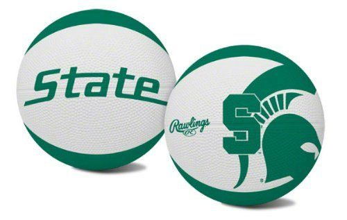 NCAA Michigan State Spartans Alley Oop Youth Size Basketball by Rawlings by Rawlings. $14.04. Youth Size Basketball. Features school colors, team logo and name. Alternating team color panels. High quality vulcanized rubber. While you drive to the basket with this youth-size Michigan State Spartans  pebble basketball, you can feel confident in the quality that has been provided by Rawlings for more than 100 years. The MI ST Spartans logo and Rawlings brand is embossed on the quali...