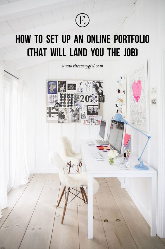 Superb How To Set Up An Online Portfolio (That Will Land You The Job). Home Office  DesignHome ...