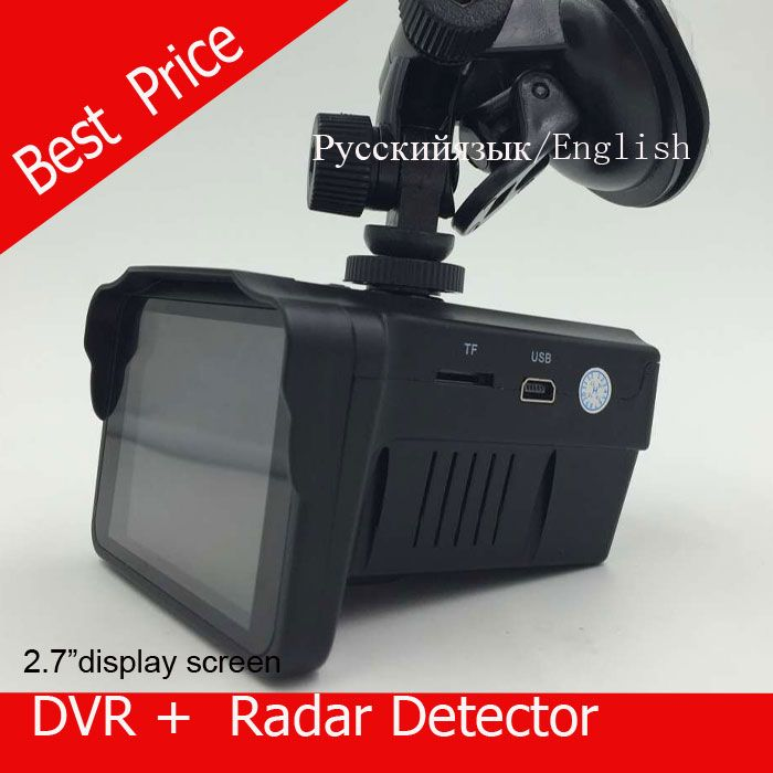 """H588 kecepatan Mobil DVR Kamera Radar Detector Kecepatan Radar combo 2in1 2.7 """"LCD Suara Rusia atau INGGRIS Gratis pengiriman"""