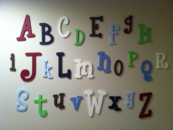 painted wooden alphabet letter set 10 to 6 letters abc wall child room nursery decor hanging wooden wall letters
