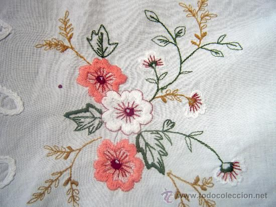 Manteles bordados a mano patrones - Imagui