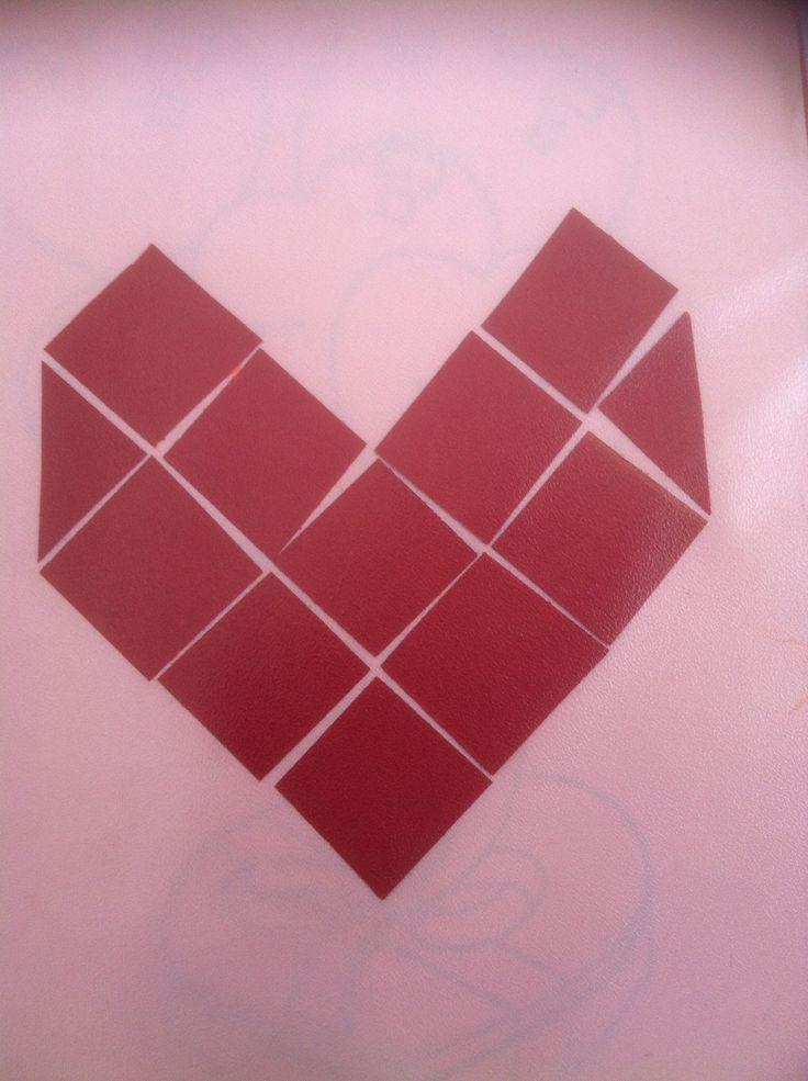Hart van mozaïek met papier