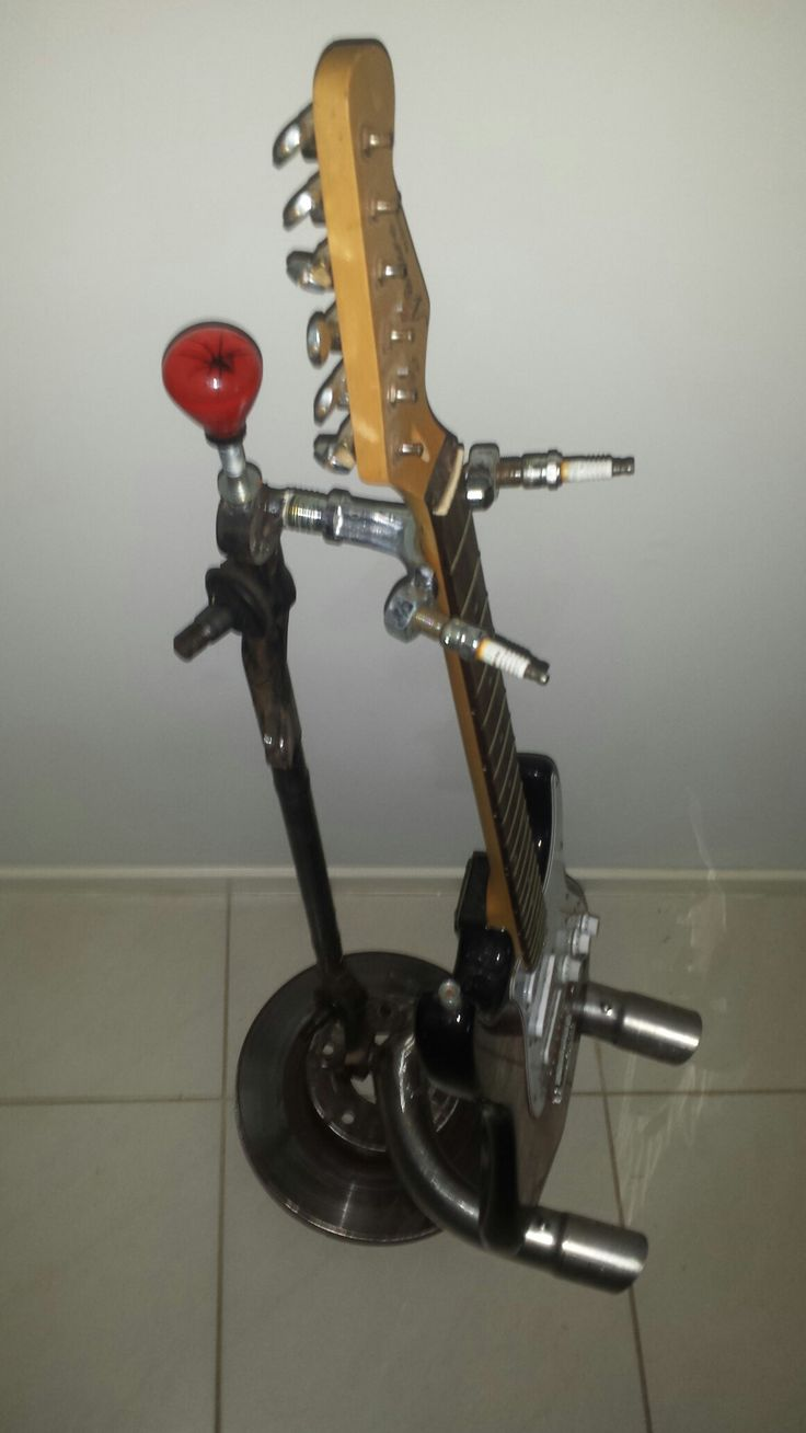 Guitar displaystand .. from recycled car parts