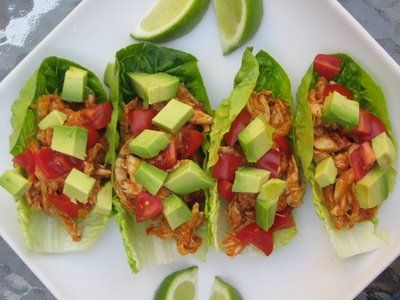 Paleo Chicken Tacos: Lettuce Wraps, Clean Eating, Paleo Chicken, Yummy, Shredded Chicken, Paleo Tacos, Healthy Chicken, Chicken Tacos Recipe, Chickentaco