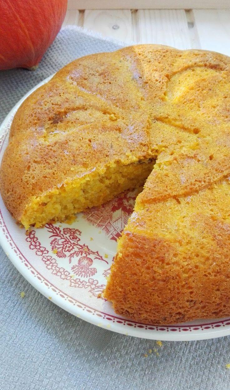 Oesters en Uien : Pompoencake met sinaasappel en noten