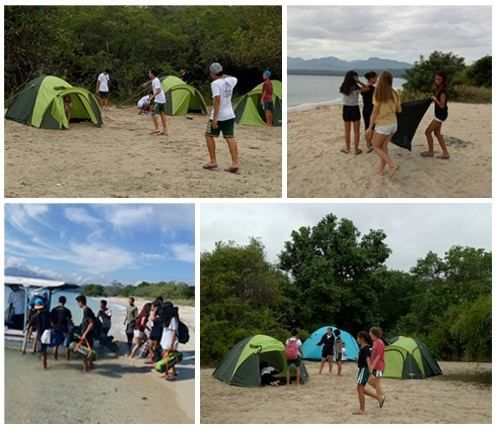 Pasir Putih Beach Camping by NusaBay Menjangan!  International school students including the Dyatmika School in Bali bring their students to experience an outdoor school program at Pasir Putih Beach Camp Site located on Kotal Beach West Bali National Park. This program builds the teamwork between students and also directly introduces them to wild life surrounding the National Park.  Contact us at info@wakahotelsandresorts.com for more information.  #nusabaymenjangan #wakahotelsandresorts…