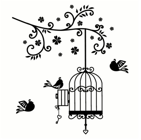 "Open Birdcage Silhouette ""family tr..."