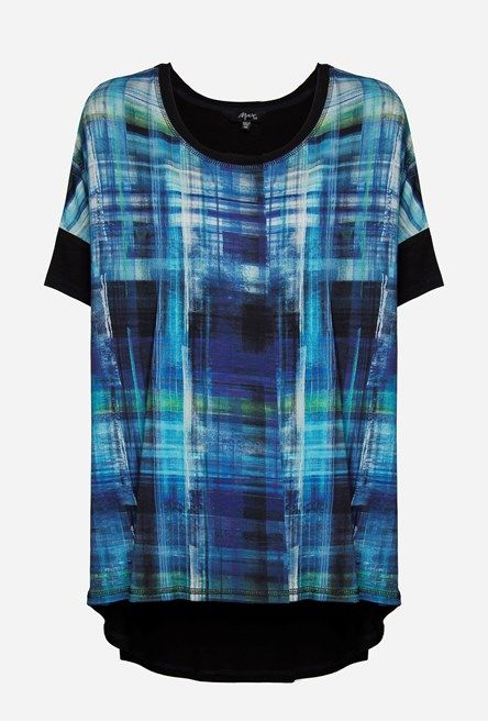 Shop for Watercolour Check Tee - 2 for $49 SALE Tops - Max Shop