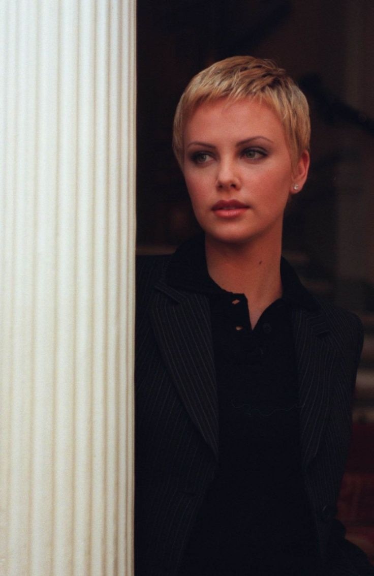Charlize Theron with short hair