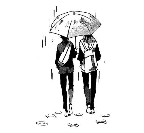 Amor, lluvia, sombrilla :3