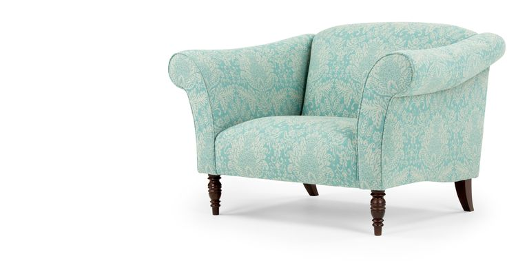 Made.com Garston loveseat, geweven blauwe wol 14cm, maybe just too wide... 799 with this fabric!