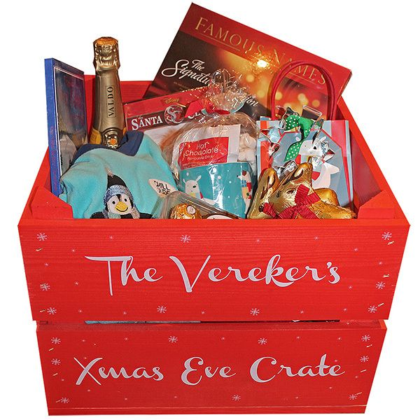 Christmas Eve box for adults! Our plain wooden boxes and crates are perfect for this purpose. Use decoupage, paint or wooden shapes in order to decorate them. More DIY inspiration available at www.craftmill.co.uk