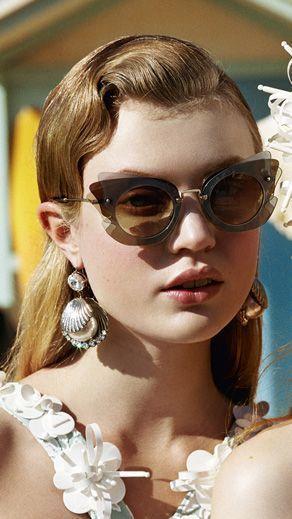 ff701d9169ed Miu Miu Spring Summer Sunglasses Campaign