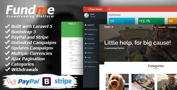 Fundme v1.9.1 Crowdfunding Platform