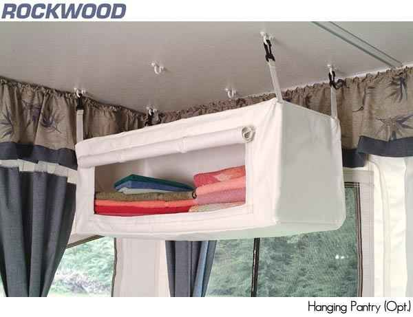 Purchase a hanging pantry/wardrobe.