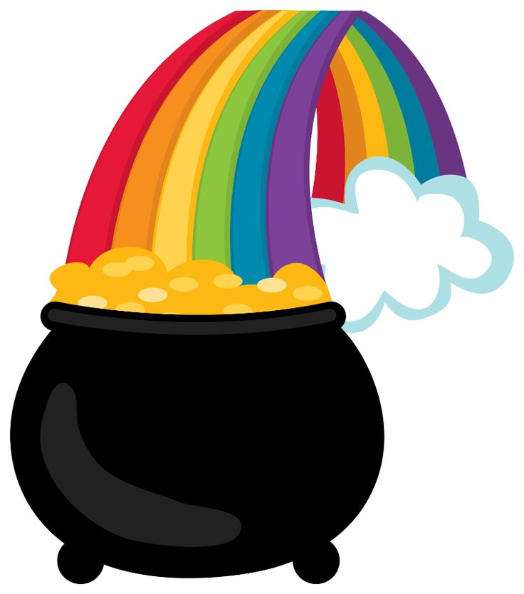Rainbow And Pot Of Gold Clipart | Free download on ClipArtMag |Pot Of Gold Clipart