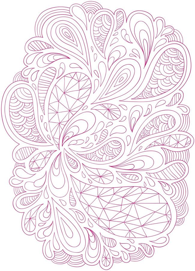 adult coloring page hard coloring