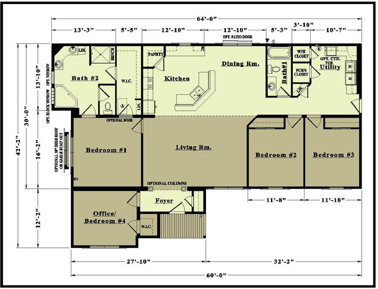 79 best images about floor plans on pinterest house for One floor open concept house plans
