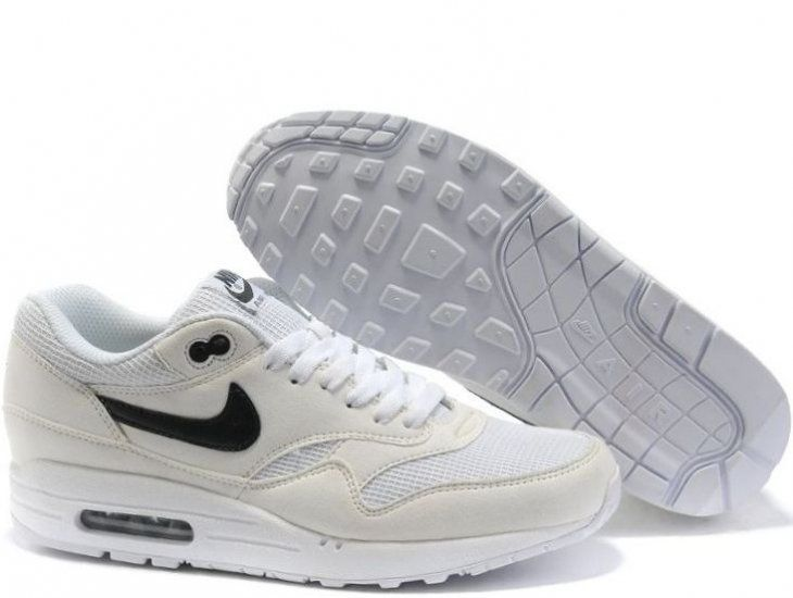Cheap Discount Nike Air Max 1 Mens White Black Black Your Best Choice