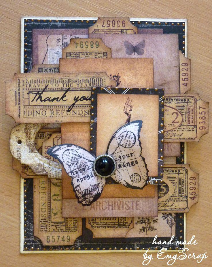 винтажная открытка, скрапбукинг Vintage card, scrapbooking