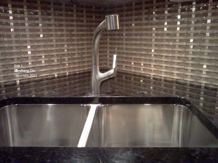 Modern Glass Backsplash Tiles Contemporary Glass Metal