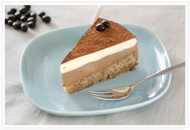 Tarta Mousse de Chocolate, Café y Mascarpone (Thermomix)