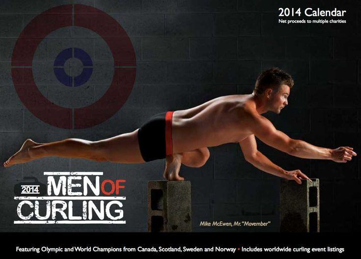 Men Of Curling 2014 Calendar