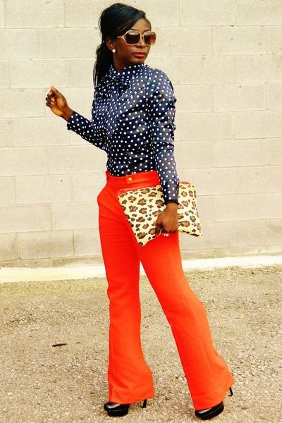 would never have thought to mix polka dots and leopard print but it works...