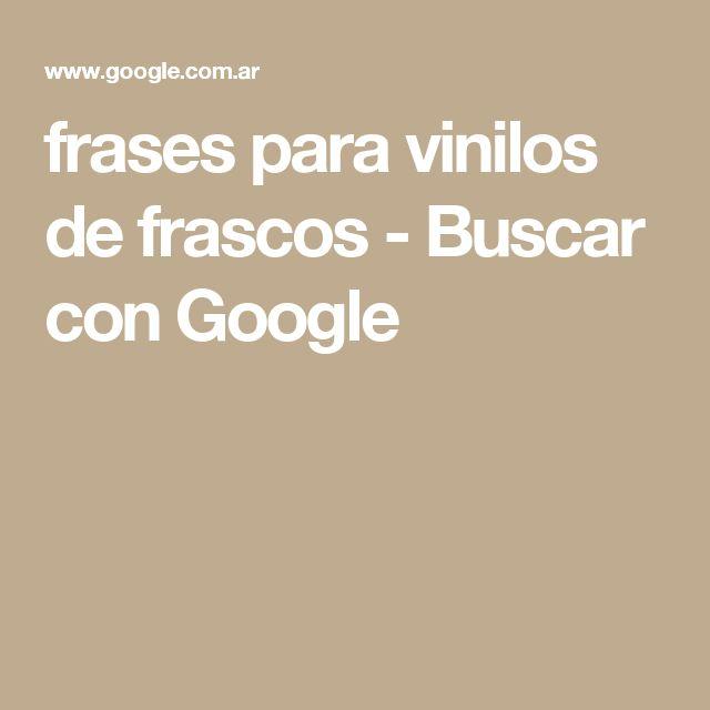 frases para vinilos de frascos - Buscar con Google