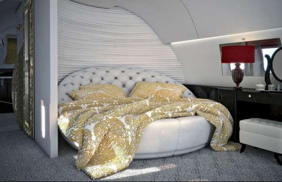 Airbus A340-300 Private Jet: $450+ million (£310+m):There are also comfy bedroom areas on the ... - Airjet
