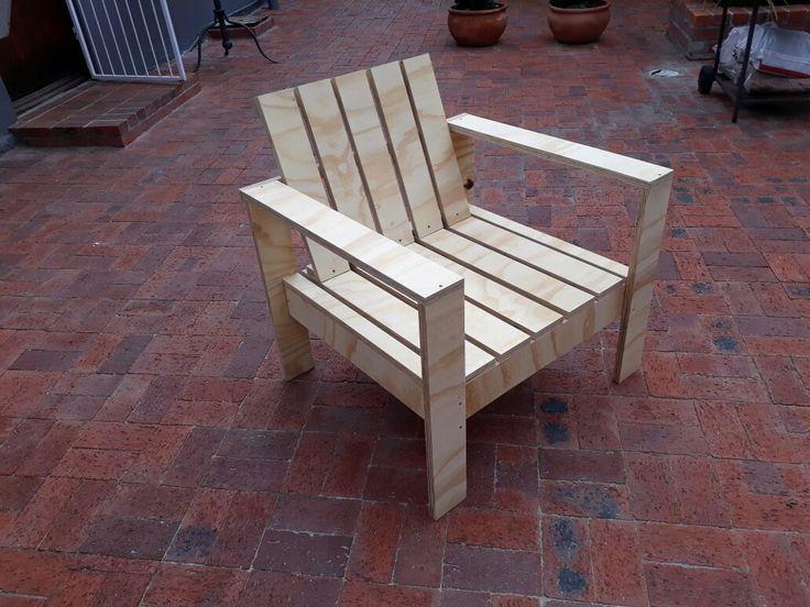Easy plywood garden chair