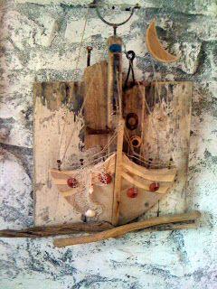 seaside mykonos furniture: Πίνακες απ θαλασσοξυλα και παλια ξύλα
