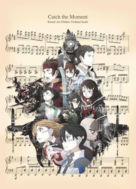 Sword Art Online Ordinal Scale Sheet Music Art Print
