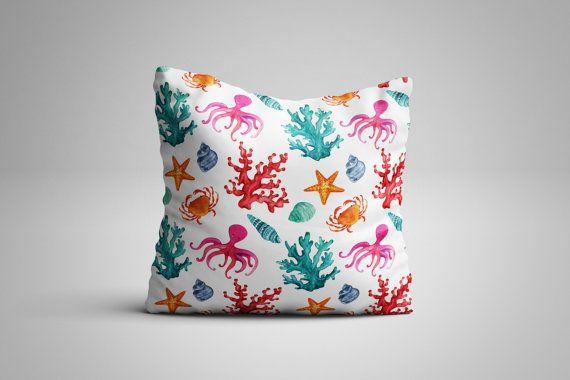 Aquarium Cushion. 12 x 12 inch Cushion by NJsBoutiqueCo on Etsy