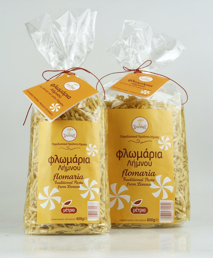 Flomaria Hrysafi - Traditional Pasta from Lemnos.