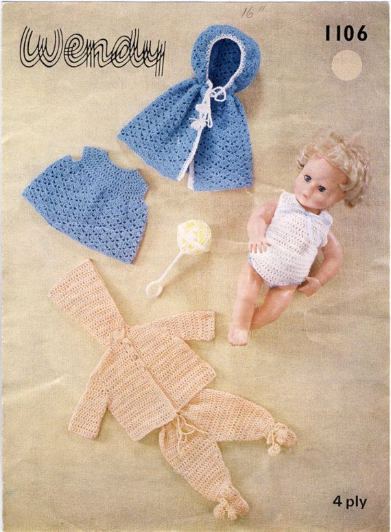 Wendy Knitting Patterns For Dolls : 141 best images about Dolls Clothes - Knitting and Crochet ...