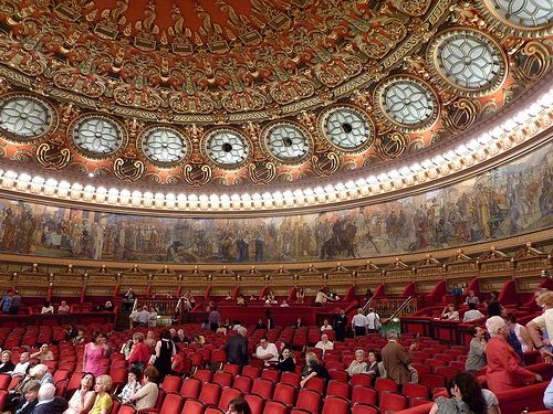 The great concert hall of the Ateneul Român